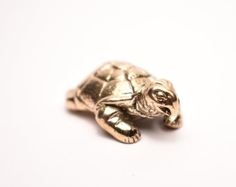 Bronze Turtle Figurine - Bronze Miniature Turtle - Bronze Animal - Bronze Turtle  Statue - Bronze Figurine