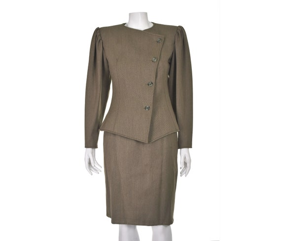EMANUEL UNGARO Vintage Suit with Mutton Sleeves SIZE SM