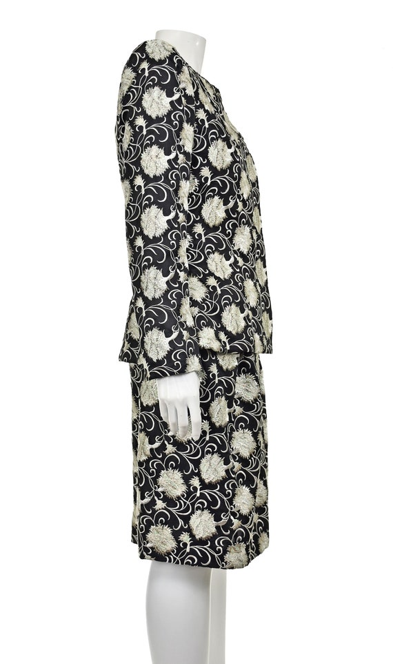 ARNOLD SCAASI Heavily Embroidered 2-Pc Cocktail D… - image 6