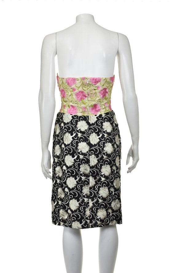 ARNOLD SCAASI Heavily Embroidered 2-Pc Cocktail D… - image 5