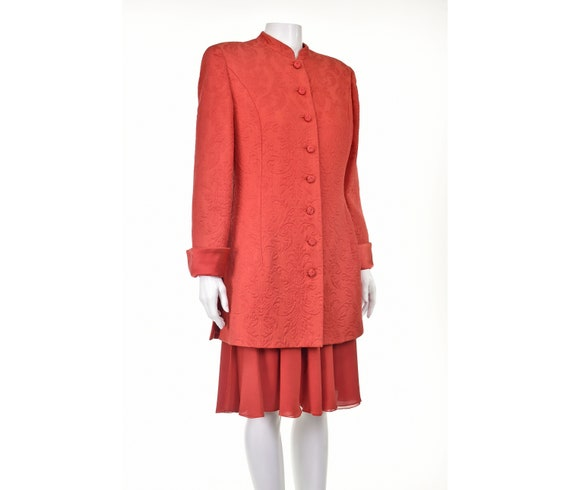 Vintage VALENTINO NIGHT Red Matelasse Jacket and S