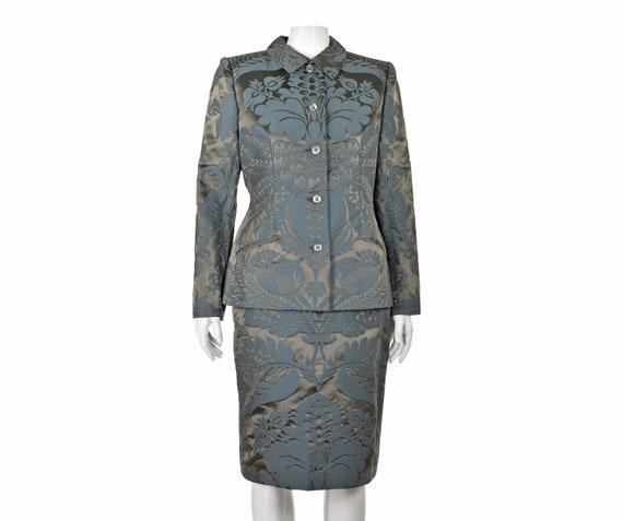 BILL BLASS Gorgrous Vintage Silk Jacquard Suit NWO