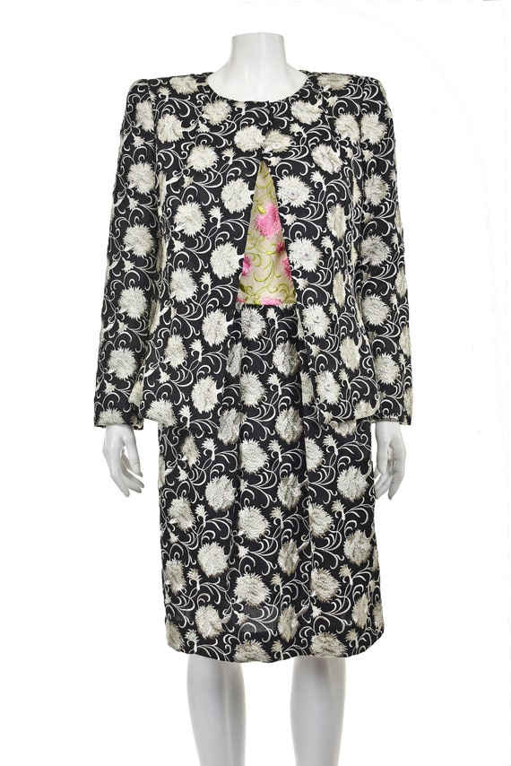 ARNOLD SCAASI Heavily Embroidered 2-Pc Cocktail D… - image 3