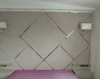 10.7 sq ft Soft panels, Wall decor, Headboard, Wall Panels, Modern Bedroom Decor, Fabric Wall Decor, Upholstered Headboard, Montessori Bed