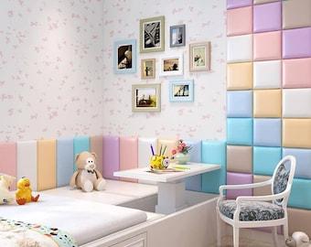 Wall decor, soft panels, Headboard, Wall Panels, Modern Bedroom Decor, Fabric Wall Decor, Upholstered Headboard, Montessori Bed,