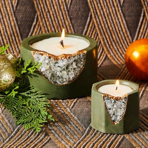 Geode Crystal Soy Candle | House of Harlow 1960 Collab Candle | Holiday Candle