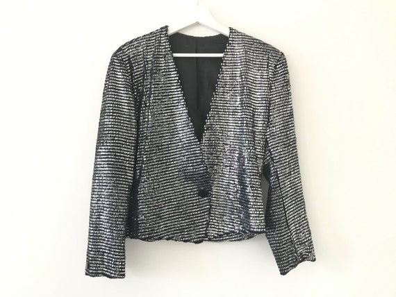Vintage Statement piece Metallic jacket couturier
