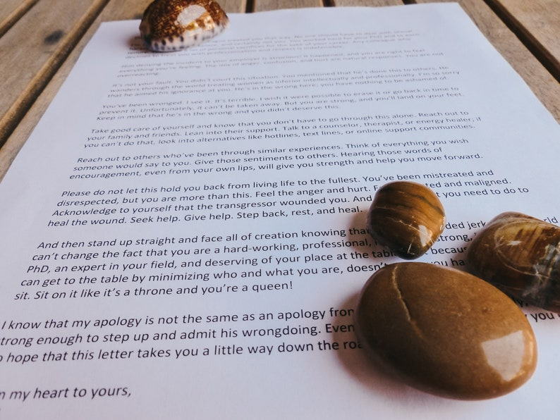 Apology Letter to You