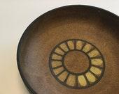 Vintage stoneware decorative bowl