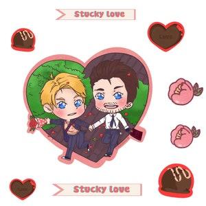 Stucky Valentines transparent sticker set