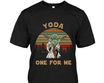 4eddec05 Yoda One For Me Star Wars Retro Vintage T-shirt
