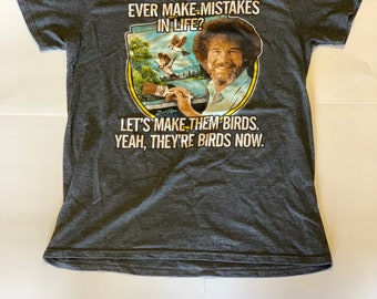 ae5e23d2 Vintage Bob Ross Men's T-shirt Small