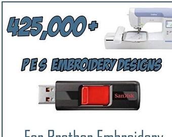 150,000 Embroidery Designs Colección PES Formato en USB Flash Drive