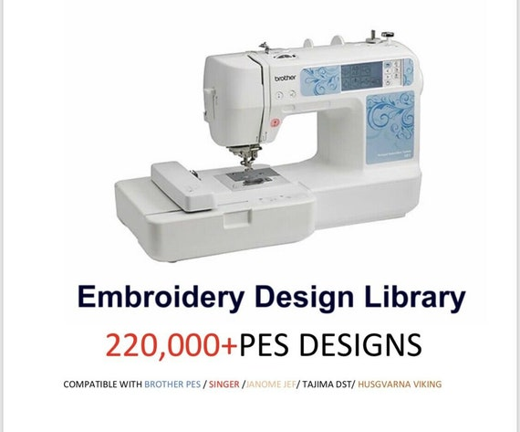 Embroidery Brother PES Designs Tutorial Lessons Tajima Janome EMBIRD 220,000