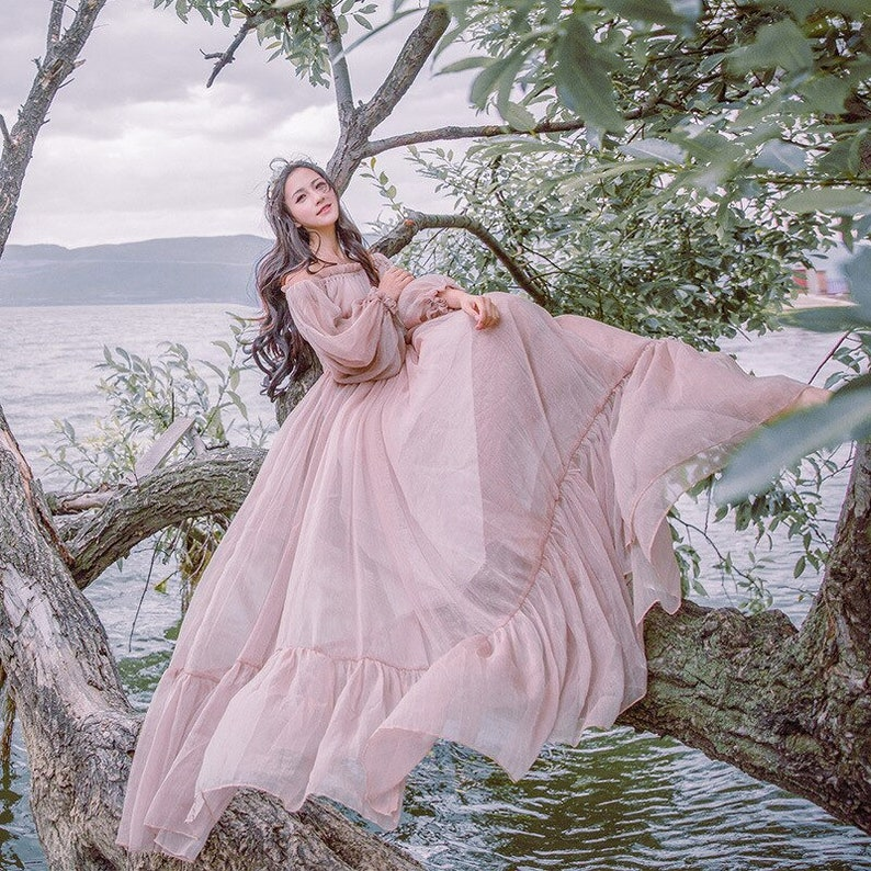 Women Medieval Dress Strapless Vintage Style Renaissance Dress Floor Length Retro Long Dress Gown