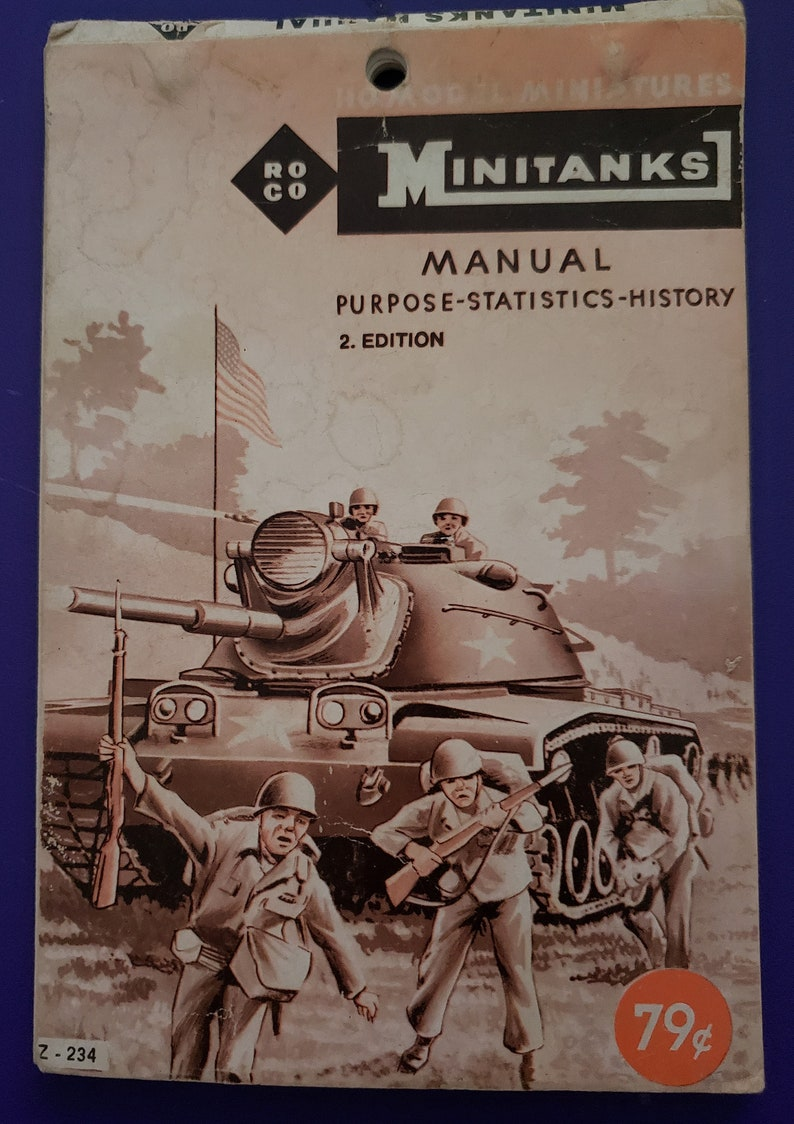 RoCo Mini Tanks HO Model Miniatures Manual 1967