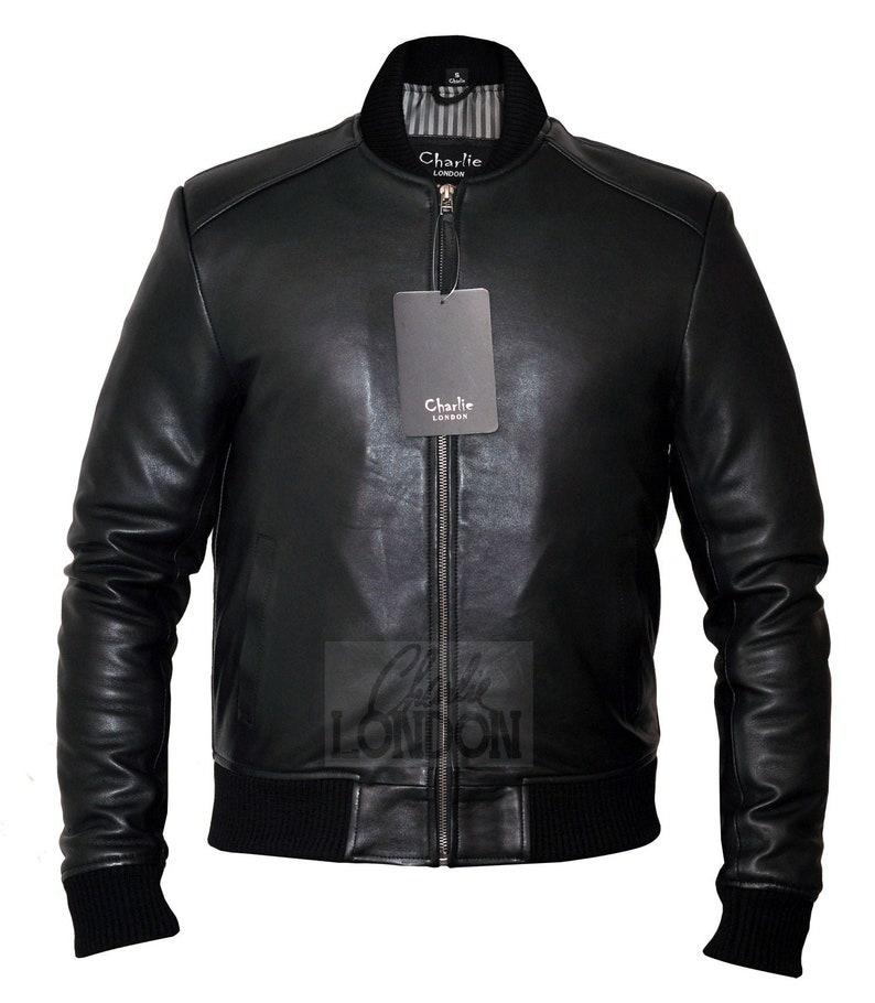 Handmade Leather Jackets Mens Slim Fit Sand Bomber Leather Jacket