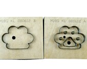 Cute Bear 39 s paw Leather Cutting Die Set,Leather Cutting Die Wood Cut Mold,Punch Dies Leather Crafts Kraft Tool