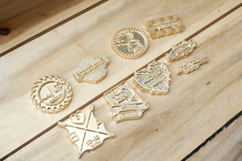 Custom Workshop Logo Branding Iron Wood Stamp With Handle
