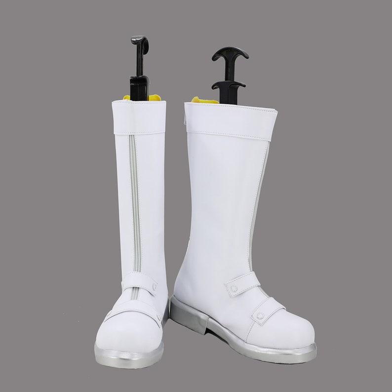 My Hero Boku No Hero Academia Todoroki Shouto Cosplay High Boots Shoes White SZ
