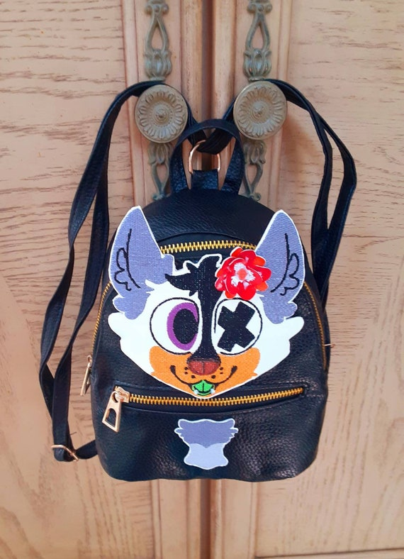 FREE DOMESTIC SHIPPING Furry Pride Backpack Fursuit backpack custom fursona backpack purse fursuit prop accessory small backpack