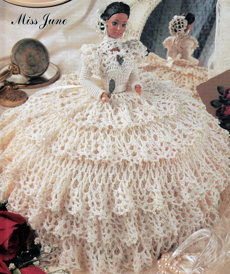 Miss October ~ fits Barbie dolls Gems of the South crochet pattern booklet NEW