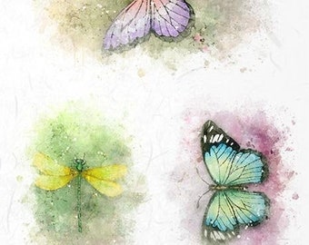 Rice Paper for Decoupage Scrapbook and Craft Woman and Butterfly 723