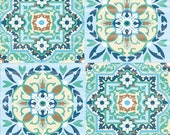 Moroccan Mosaic Green Tiles Abstract Paper Napkin Serviette For Decoupage Scrapbooking Paper Crafts