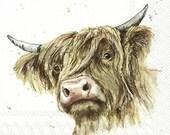 Farmfriends Galloway Highland Cow Paper Napkin Serviette For Decoupage Scrapbooking