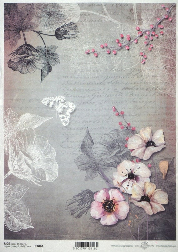 Rice Paper for Decoupage  A3 Scrapbooking Woodland Time Sheet Craft