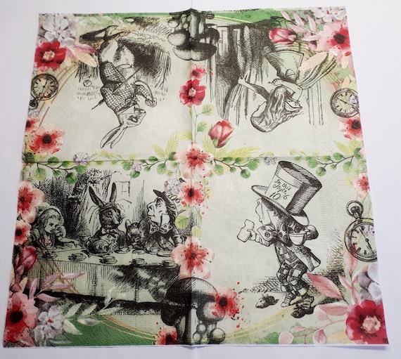 PAPER TABLE NAPKINS FOR CRAFT VINTAGE CHRISTMAS REINDE DECOUPAGE TEA PARTIES 695
