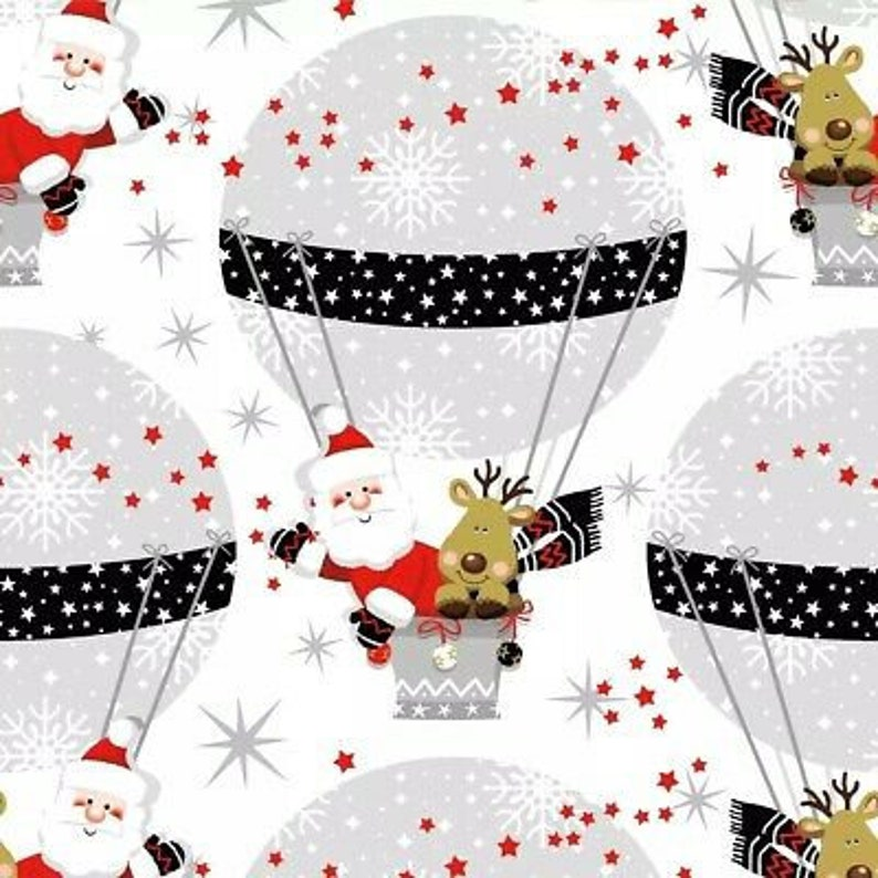 winter 4 Single paper decoupage napkins Christmas Xmas Santa design -X167