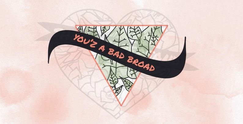 You'z A Bad Broad Art Print Blank Postcard 4x8 Etsy