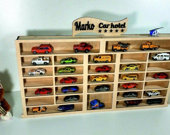 Car Toy Shelf (storage), Car Hotel For Hot Wheels, Matchbox Toy Cars *5  Stars*, Personalized Gift