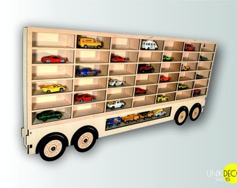 Toy Car Storage 20 42 Sections, TRAILER, Shelf, Garage For Hot Wheels,  Matchbox Toy Cars, 2 In 1, 3D