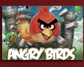 Angry Birds Red Chuck Terence Angry Birds print Chuck | Etsy