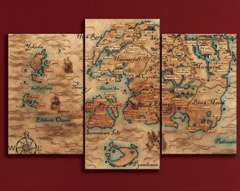 Oblivion map   Etsy