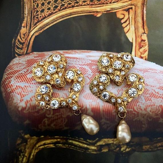 Vintage Massive Christian Lacroix Earrings - image 1