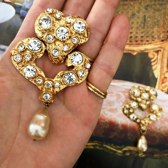 Vintage Massive Christian Lacroix Earrings - image 3