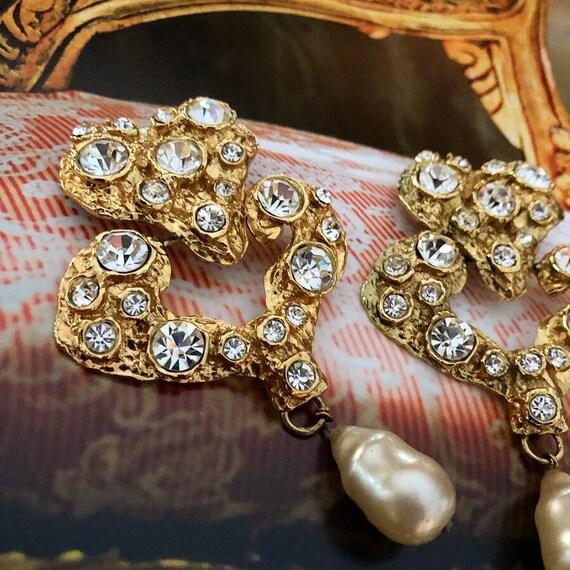 Vintage Massive Christian Lacroix Earrings - image 2