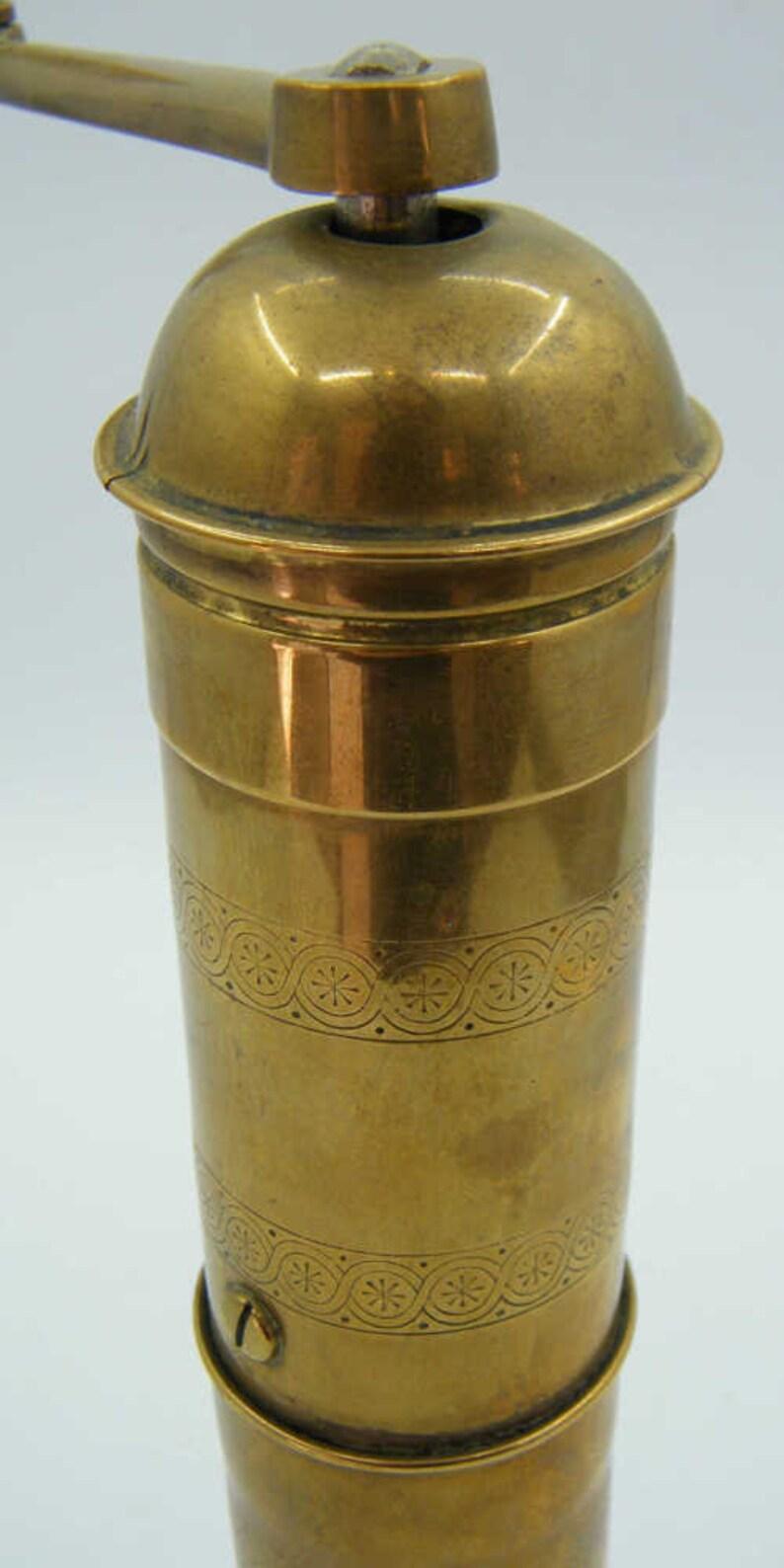 Vintage Solid Brass KTM Original MOCCA Pepper Grinder
