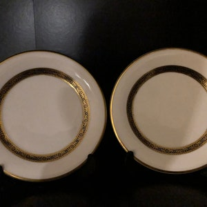Pretty in Pink-Set of 6 Alfred Meakin England 6.5 Inch Bread and Butter Plates