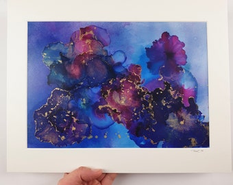 Medium Alcohol Ink Painting, Original Painting, Colourful Painting, Abstract alcohol ink UNFRAMED