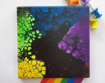 Fluid Art Painting, Pride, Colourful Painting, Flow Art, Acrylic Pouring