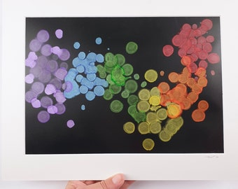 Medium Alcohol Ink Painting, Pride Art, Colourful Painting, Abstract alcohol ink UNFRAMED