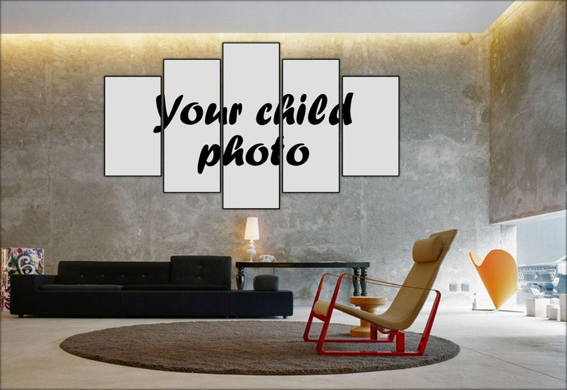 custom child photo print children photo on canvas custom child portrait canvas art personalized photo home decor gift for mom and dad