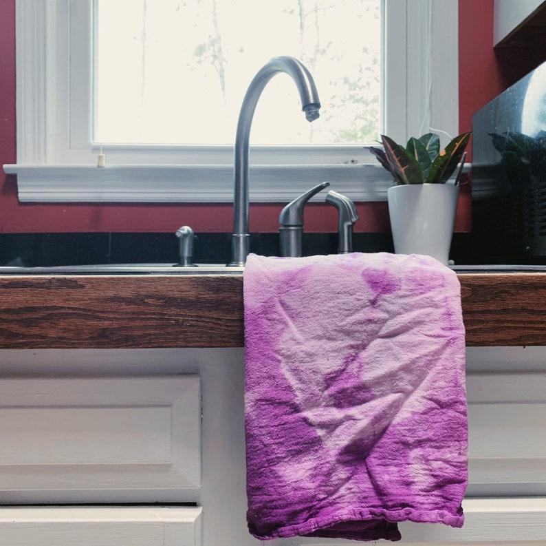 Flower Shibori Towel  Shibori Flour Sack Towels  Hand Dyed  image 0