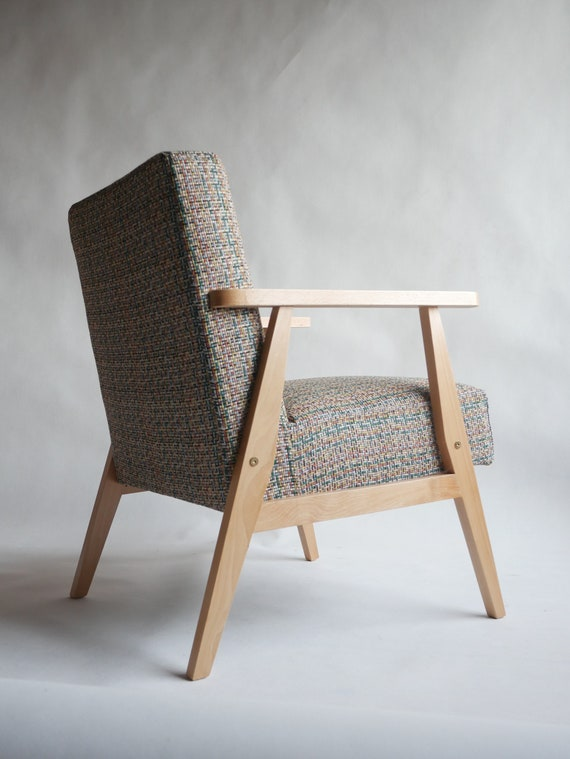 Inside Design Salontafel.Armchair Is Made Of Solid Wood Loft Retro Vintage Oak Etsy