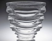 A Cristal Lalique 39 Saint Marc 39 Clear and Frosted Vase