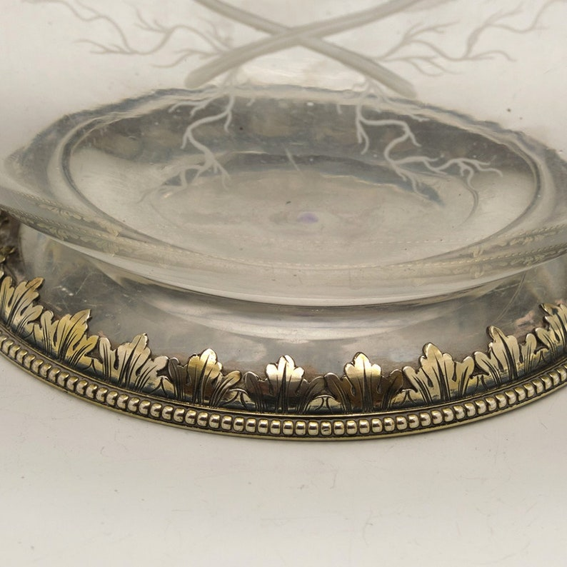 Silver Gilt Mounted Engraved Glass Claret Jug George Fox Londres 1866